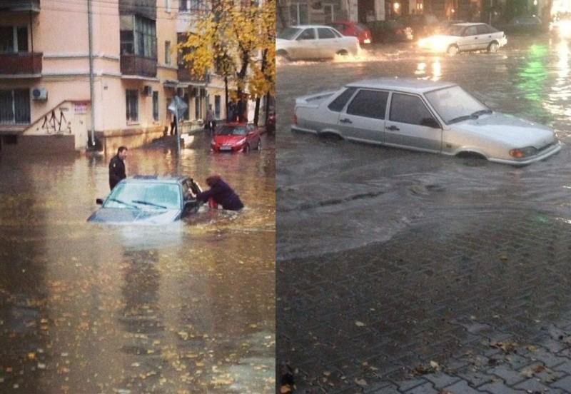 Небывалый потоп в Ростове-на-Дону