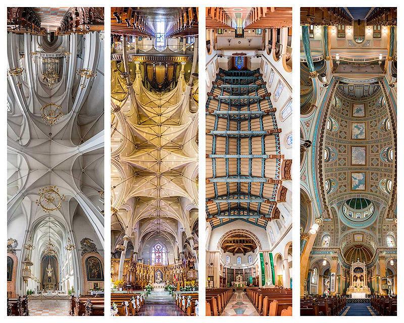 Потрясающие снимки храмов от входа до алтаря в одном фото
