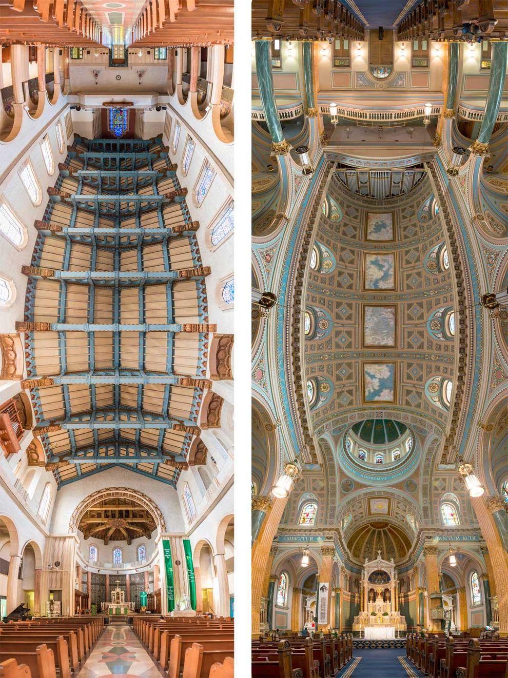 Church01 Потрясающие снимки храмов от входа до алтаря в одном фото