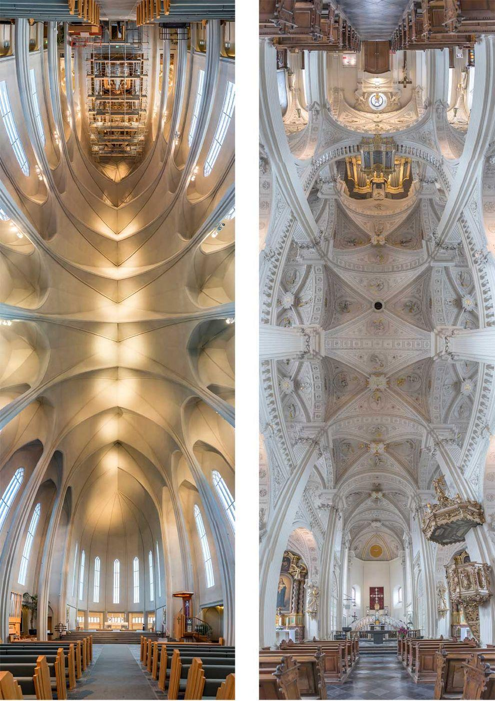 Church02 Потрясающие снимки храмов от входа до алтаря в одном фото