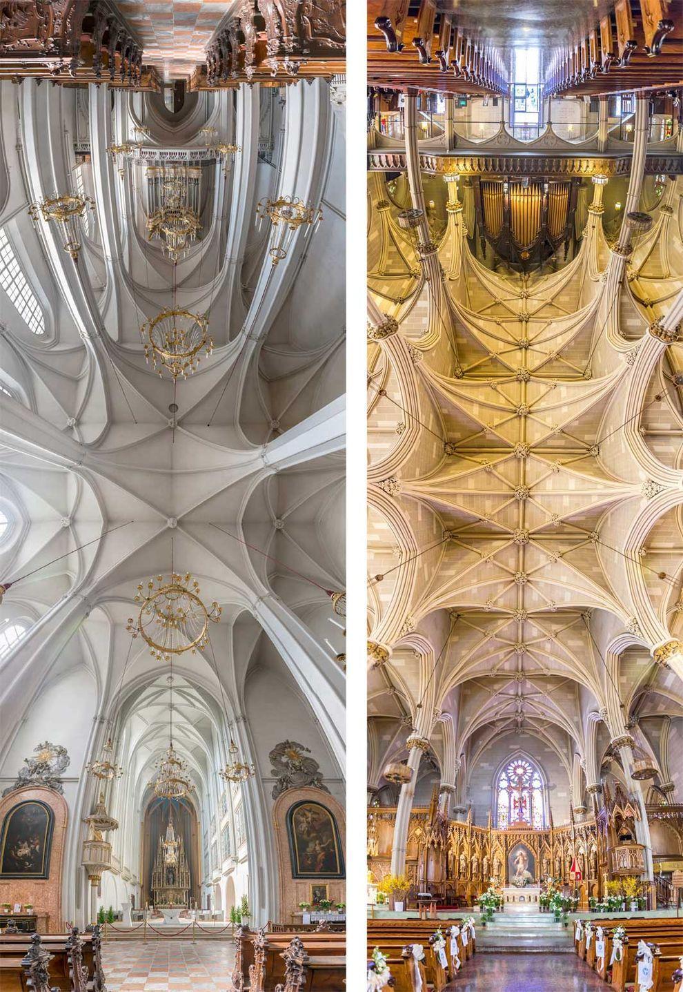 Church03 Потрясающие снимки храмов от входа до алтаря в одном фото