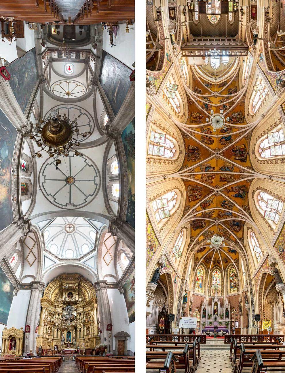 Church04 Потрясающие снимки храмов от входа до алтаря в одном фото