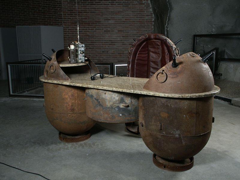 Navalmine04 Мебель из старых морских мин