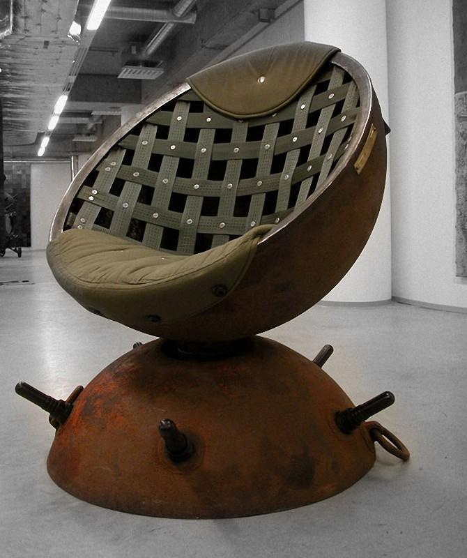 Navalmine05 Мебель из старых морских мин