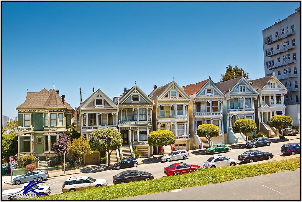 Steiner03 Яркая достопримечательность Сан Франциско: викторианские дома Painted Ladies