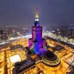 Зимняя Варшава с высоты