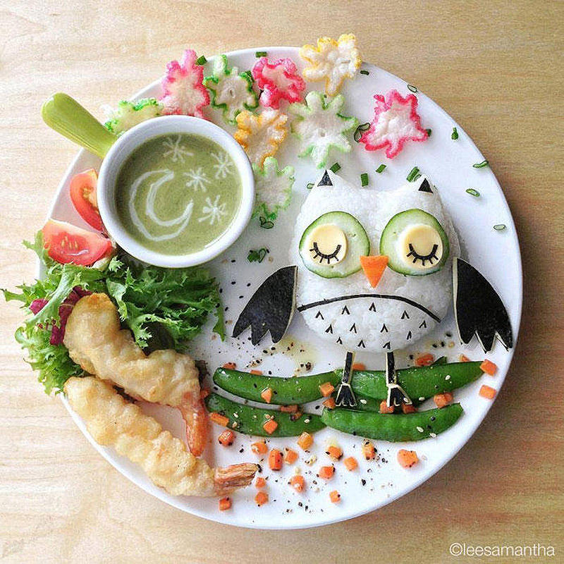 leesamantha11 Художница превращает блюда в шедевры