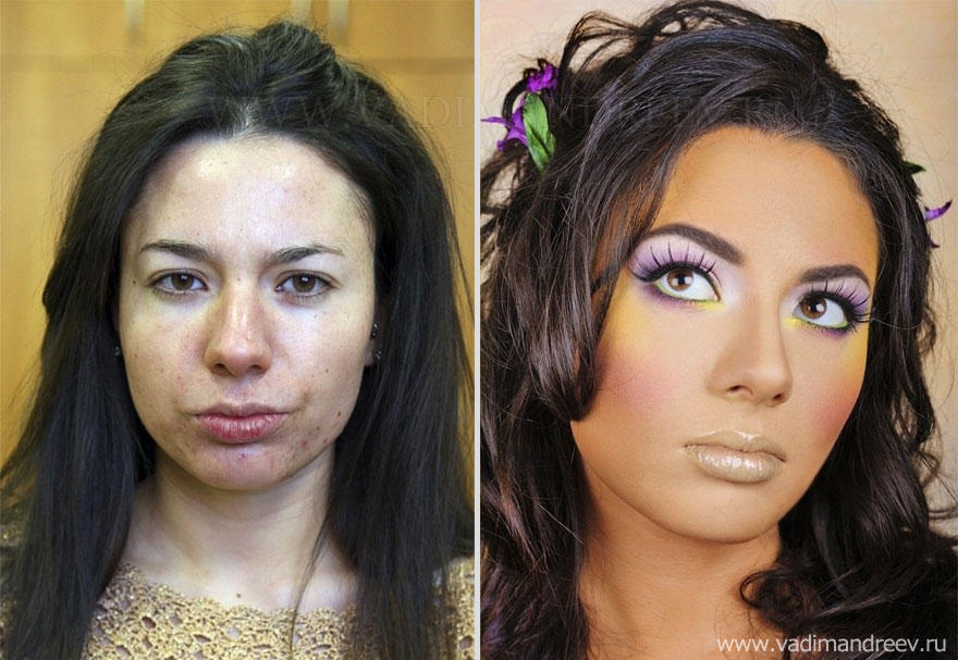 makeup01 Невероятно, но факт: визажист творит настоящие чудеса!