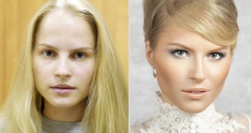 makeup05 Otroligt men sant: makeup artist gör underverk!