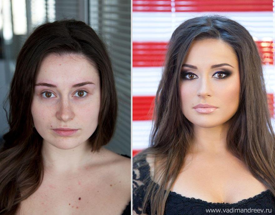 makeup06 Otroligt men sant: makeup artist gör underverk!