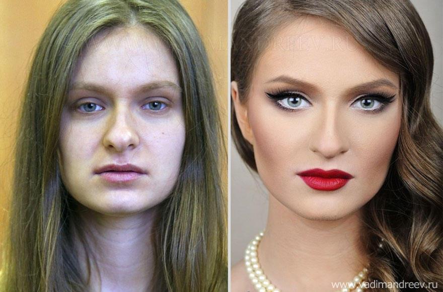 makeup08 Otroligt men sant: makeup artist gör underverk!