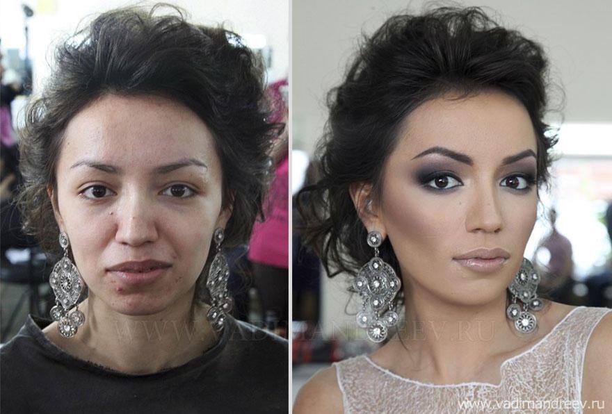 makeup09 Otroligt men sant: makeup artist gör underverk!