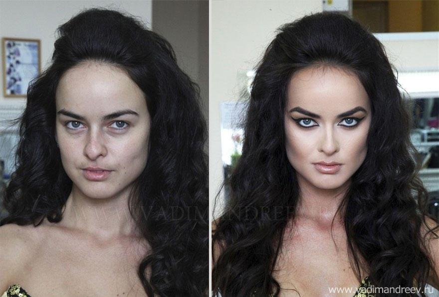 makeup10 Otroligt men sant: makeup artist gör underverk!