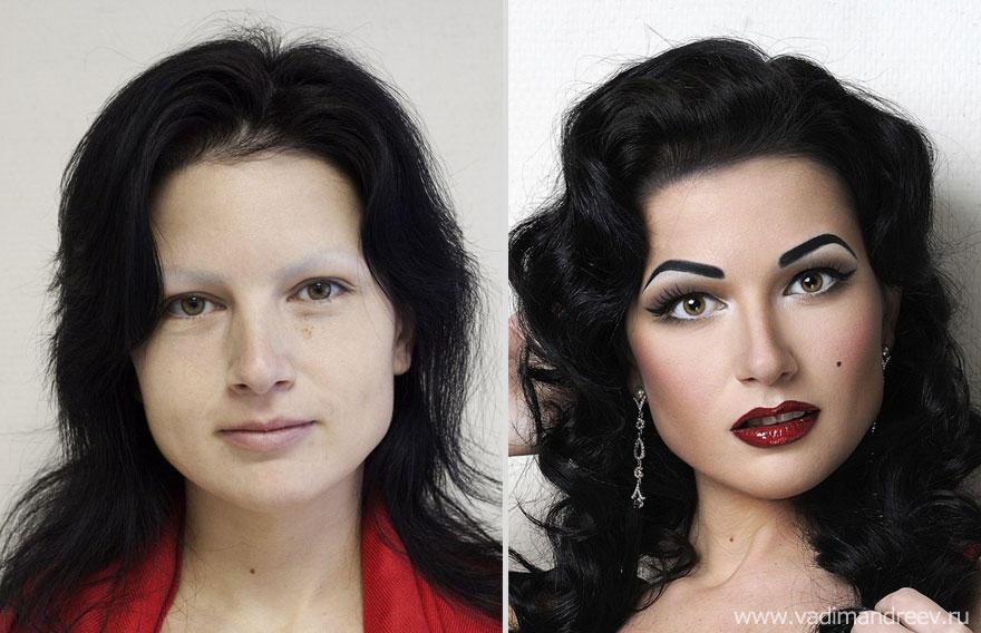 makeup13 Otroligt men sant: makeup artist gör underverk!