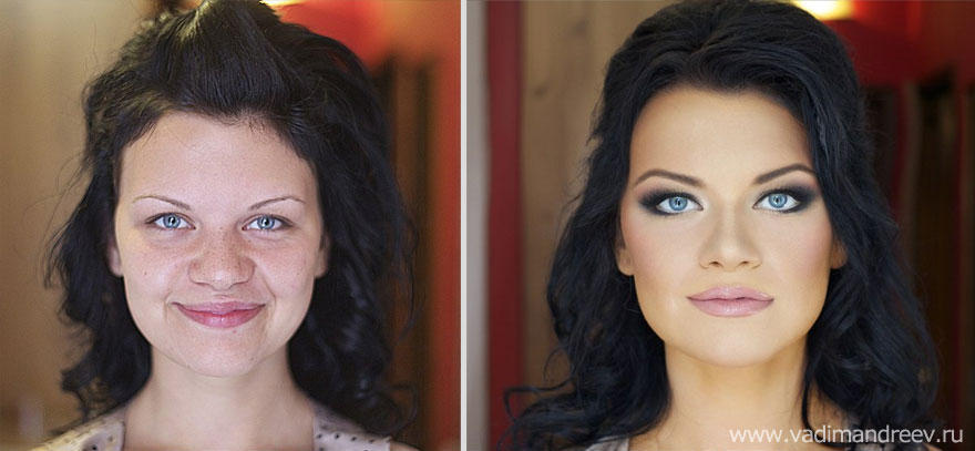 makeup14 Otroligt men sant: makeup artist gör underverk!