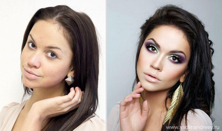 makeup15 Невероятно, но факт: визажист творит настоящие чудеса!