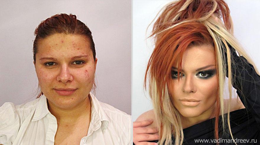 makeup19 Otroligt men sant: makeup artist gör underverk!