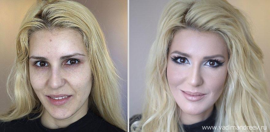 makeup20 Otroligt men sant: makeup artist gör underverk!