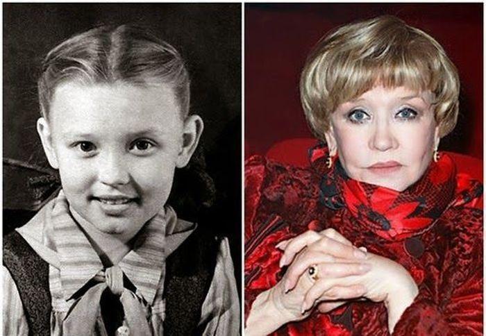 sovietactresses01 Легендарные советские актрисы в детстве и в возрасте
