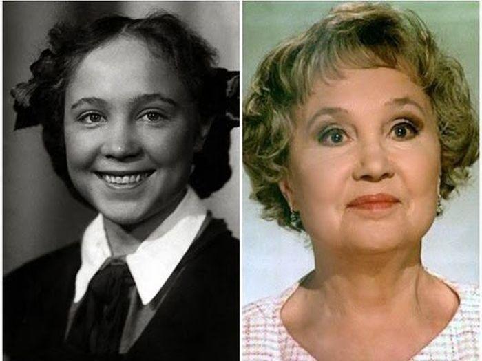 sovietactresses05 Легендарные советские актрисы в детстве и в возрасте