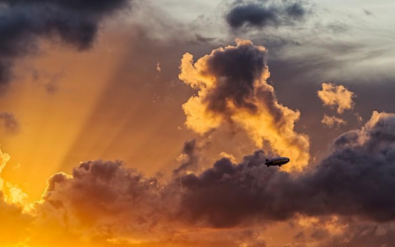 Потрясающее небо над Майами