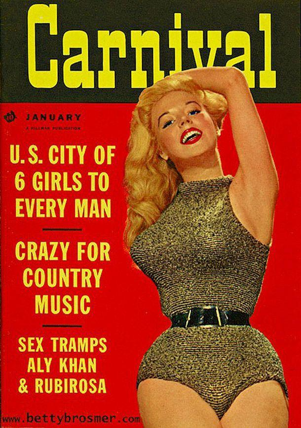 BettyBrosmer46 Бетти Бросмер — обладательница самой шикарной фигуры 50 х годов