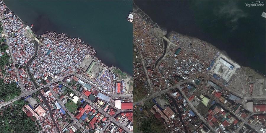 Haiyang02 Тайфун Хайян: до и после