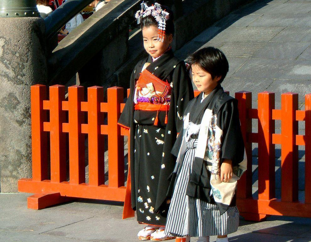 Shichi Go San 04 Самые обаятельные малыши на празднике детей в Японии