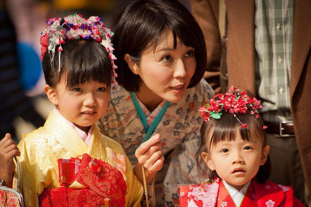 Shichi Go San 05 Самые обаятельные малыши на празднике детей в Японии