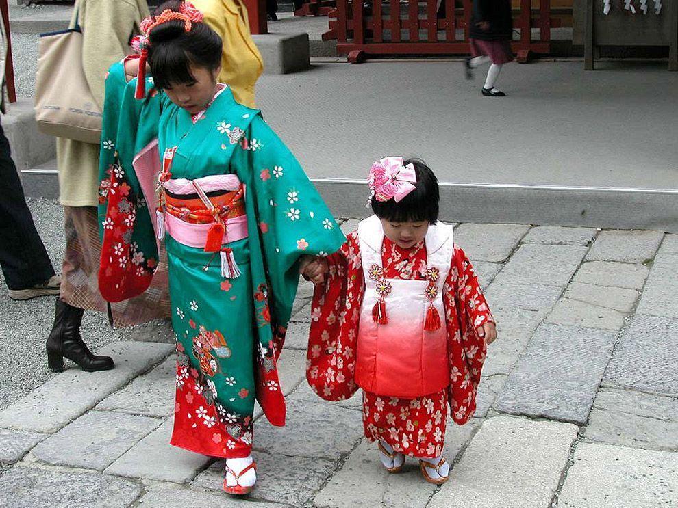Shichi Go San 09 Самые обаятельные малыши на празднике детей в Японии