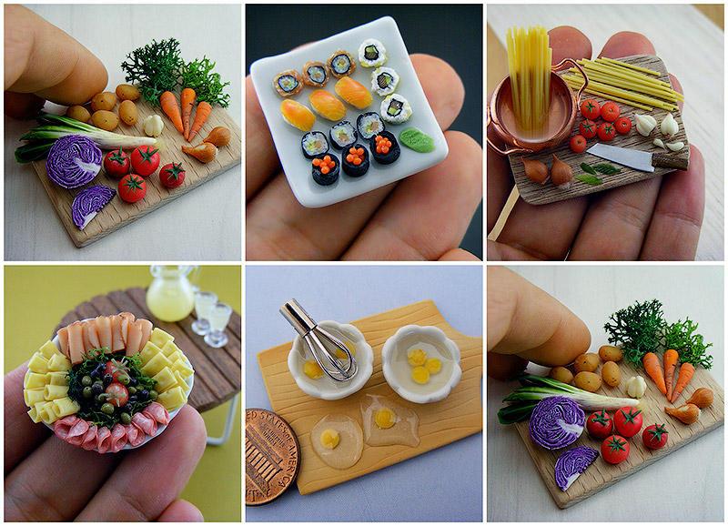 Аппетитные миниатюры от израильского мастера (47 фото)
