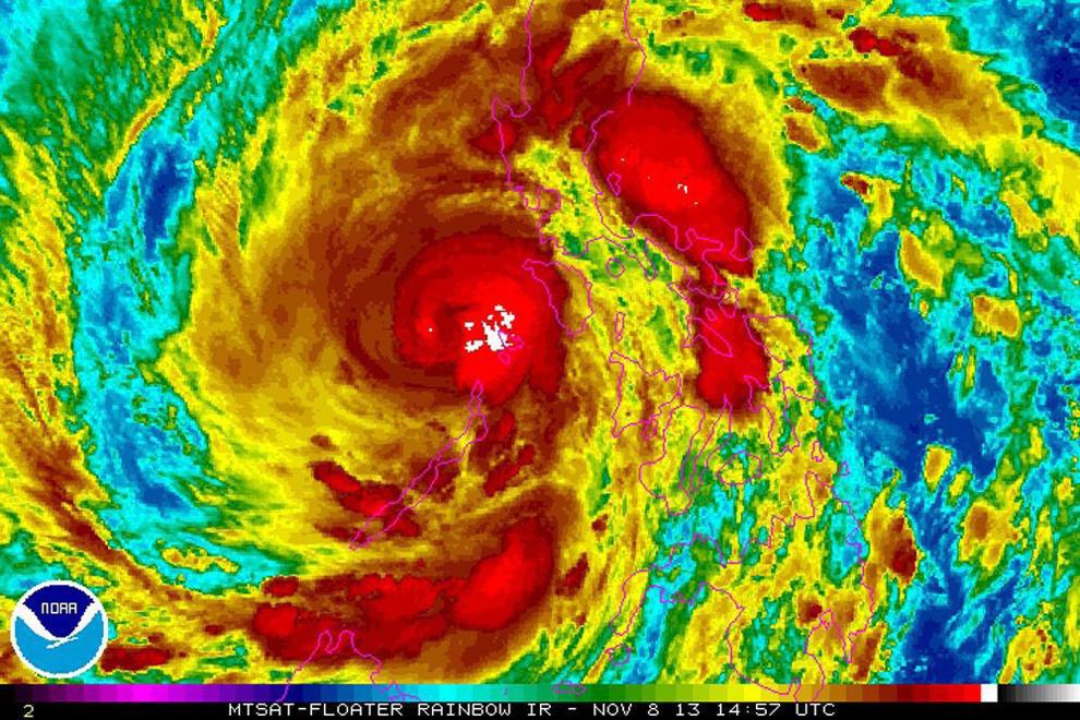 bp200000 Тайфун Хаян унес жизни более 10 тысяч человек