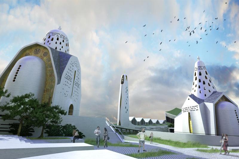 Quadraturacirculi churchcenter 001 Как могут выглядеть православные церкви в будущем