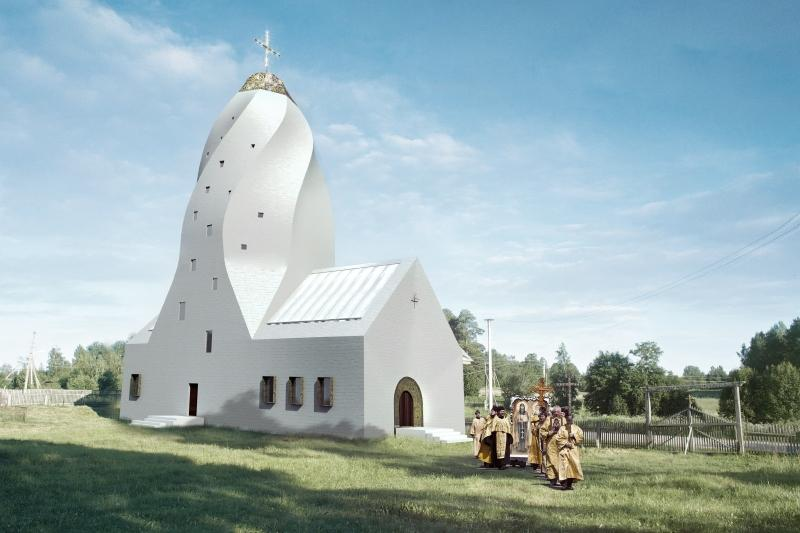 Quadraturacirculi pentecostchurch 002 Как могут выглядеть православные церкви в будущем