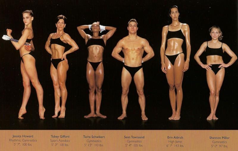 Как выглядят тела спортсменов