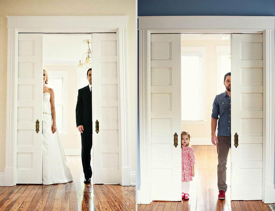 bennunery01 Отец и дочь воссоздали свадебные фото, чтобы попрощаться с женой и матерью