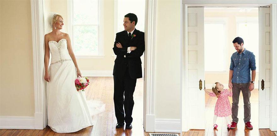 bennunery02 Отец и дочь воссоздали свадебные фото, чтобы попрощаться с женой и матерью