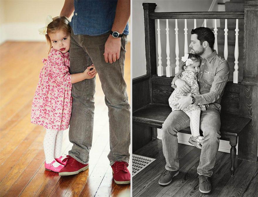 bennunery04 Отец и дочь воссоздали свадебные фото, чтобы попрощаться с женой и матерью
