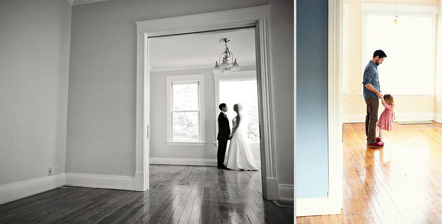 bennunery07 Отец и дочь воссоздали свадебные фото, чтобы попрощаться с женой и матерью