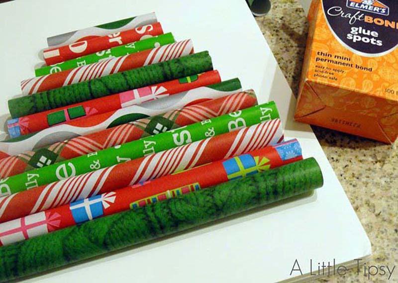 diyxmastrees06 Как сделать новогоднюю елку своими руками: несколько простых идей