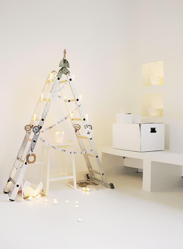 diyxmastrees07 Как сделать новогоднюю елку своими руками: несколько простых идей