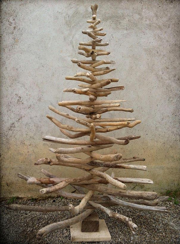 diyxmastrees14 Как сделать новогоднюю елку своими руками: несколько простых идей