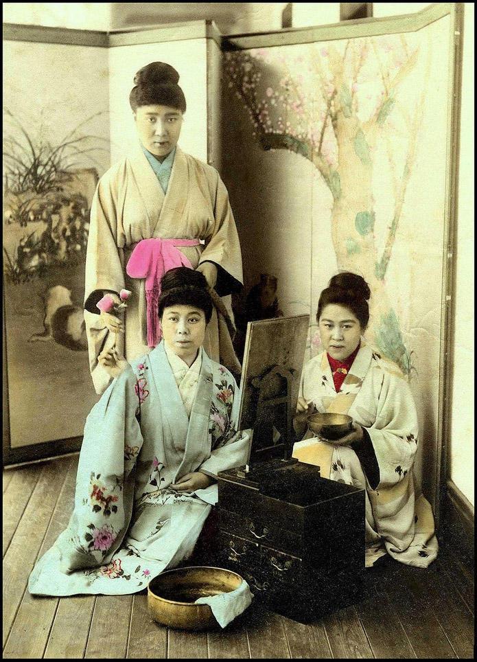 Как выглядели японские жрицы любви XIX века. Фото