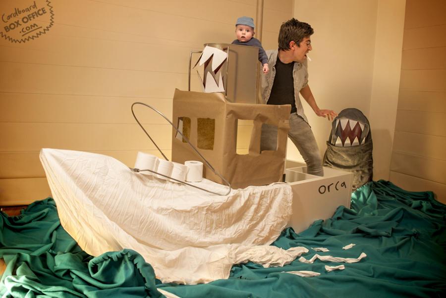 jaws3 Картонное кино: веселые родители воссоздают знаменитые фильмы