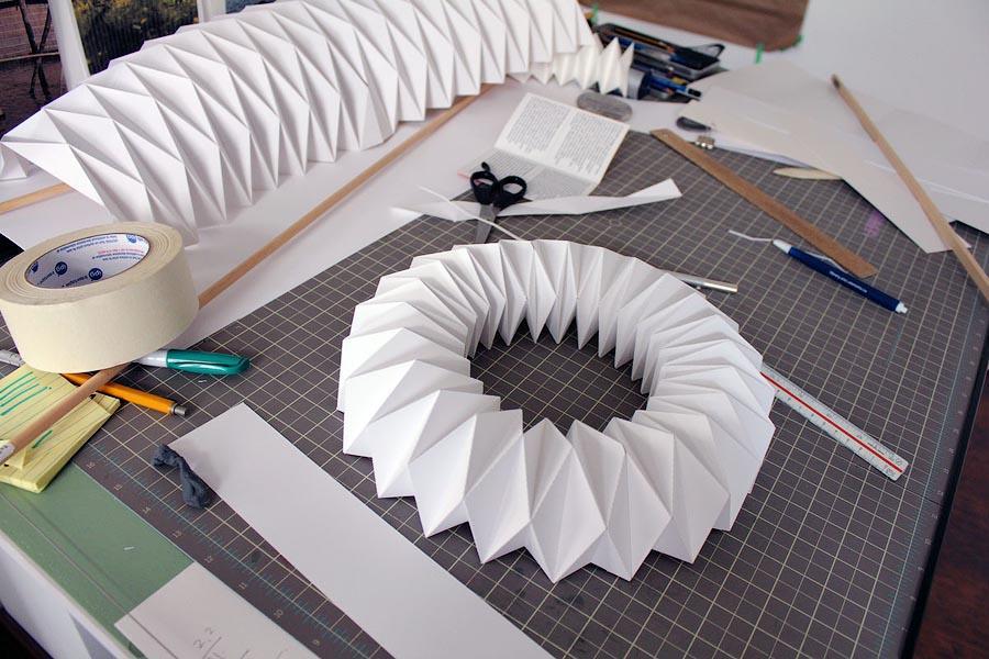 Инсталляция из бумаги как сделать