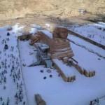 Разоблачение недели: заснеженные пирамиды оказались фотошопом