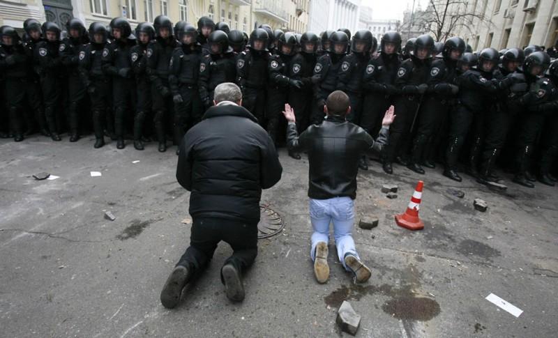 Впечатляющие кадры украинских протестов