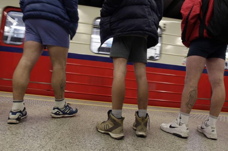 0001326T Без штанов и стыда: самый яркий флешмоб этой зимы
