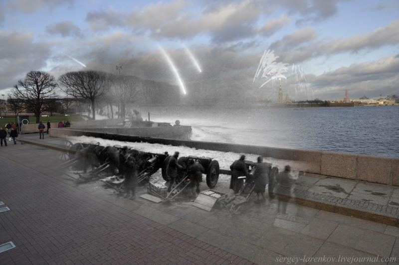 8. 27 января 1944 года в 20.00 Ленинград 24 залпами из 324 орудий салютовал в честь полного снятия блокады . Это был единственный салют во время войны, произведенный не в Москве.