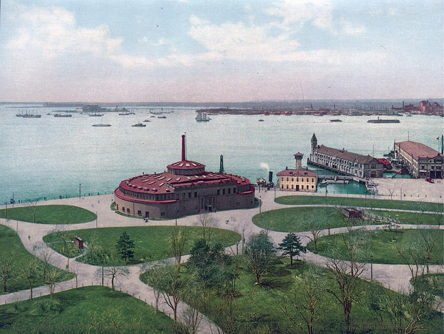 NY1900color02 Нью Йорк 1900 года в цвете